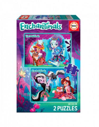 Enchantimals Puzzle 2x20pz 8412668179325