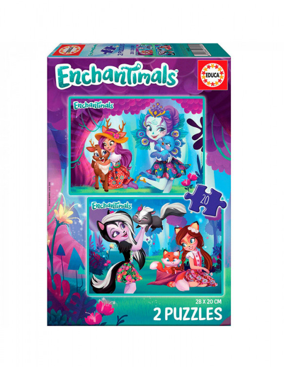 Enchantimals Puzzle 2x20pz 8412668179325