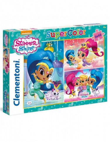 Shimmer/Shine Puzzle 3x48pz 8005125252183