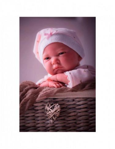 Reborn Pijama Corazones Rosa 8426265180035