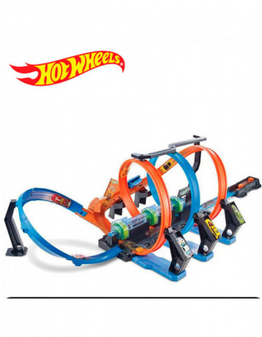 Hot Wheels Pista Triple Looping 887961639896