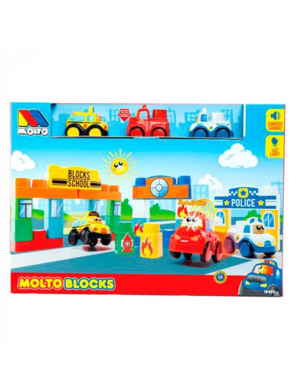 Molto Blocks 3 Coches Luces y Sonidos 8410963184525