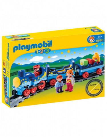 Playmobil 1.2.3 Tren con Vías 4008789068804