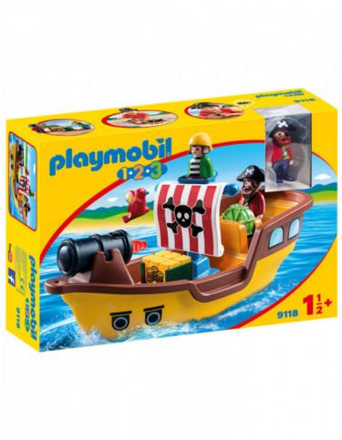 Playmobil 1.2.3 Barco Pirata 4008789091185