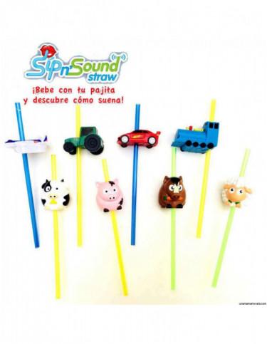 Pajitas Con Sonidos Animales y Vehículos 4894574000025