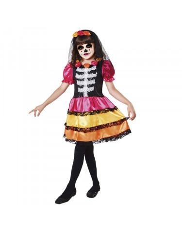 Disfraz Esqueleto Catrina 7-9 años 8435408231756 Para niña