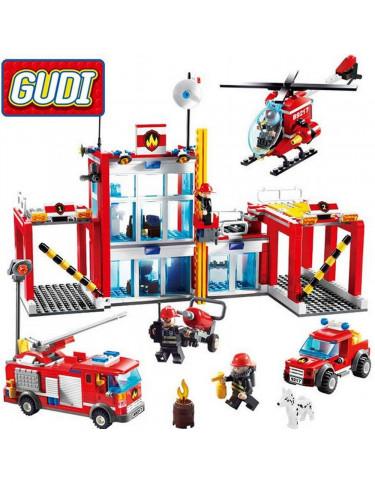 Construcción Estación bomberos 874 Piezas 5022849740287