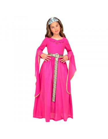 Disfraz Princesa Medieval Rosa 7 a 9 años.
