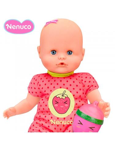 Nenuco Biberón Sonajero Pijama Rosa topitos
