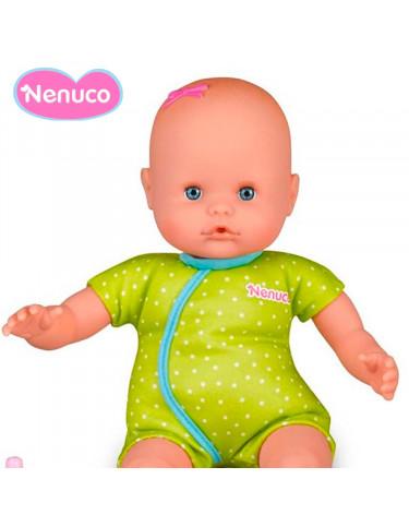 Nenuco Biberón Sonajero Pijama Verde a topitos