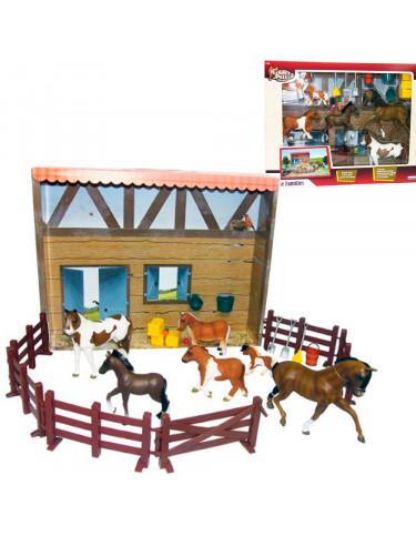 Caballos familia y Establo 0715843143400 Animales y dinosaurios