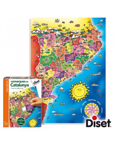 Puzzle Comarques de Catalunya 8410446636640 Menos de 500 piezas