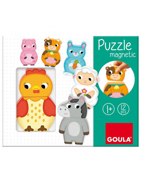 Puzzle Magnético Granja Goula 8410446552452 Juguetes de madera