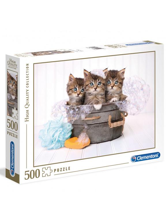KITTENS AND SOAP Puzzle 500pz 8005125350650 Menos de 50 piezas