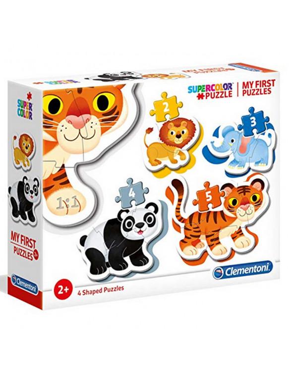 ANIMALES SALVAJES Puzzle 3-6-9-12pz 8005125208104 Menos de 25
