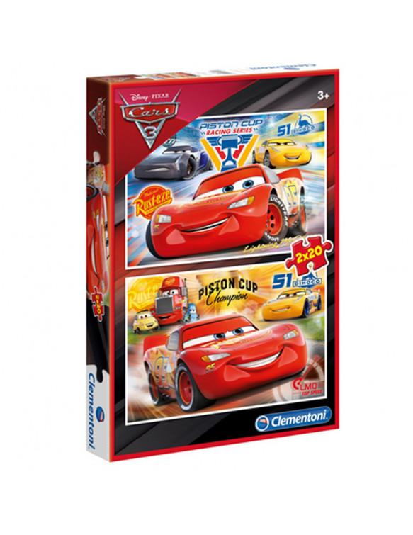 CARS 3 Puzzle 2x20pz 8005125070275 Menos de 25 piezas