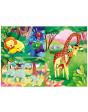 ANIMALES DE LA SAVANA Puzzle 3x48pz 8005125252336 Menos de 50