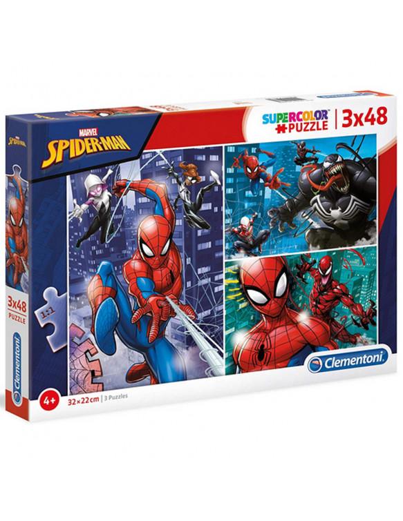 SPIDER-MAN Puzzle 3x48pz 8005125252381 Menos de 50 piezas