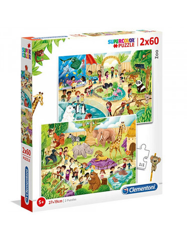 ZOO Puzzle 2x60pz 8005125216031 Menos de 100 piezas