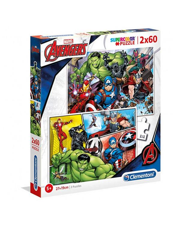 THE AVENGERS Puzzle 2x60pz 8005125216055 Menos de 100 piezas