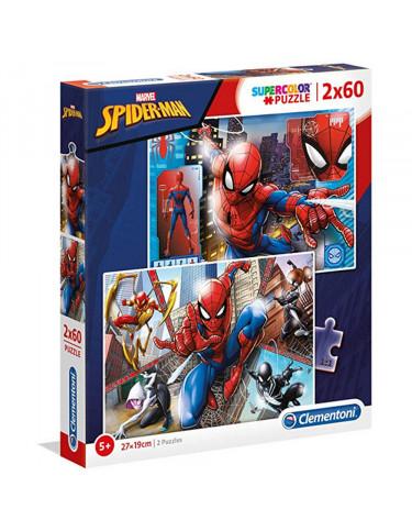 SPIDER-MAN Puzzle 2x60pz 8005125216086 Menos de 100 piezas