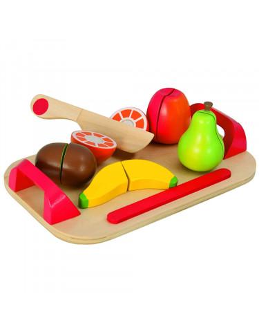 Tabla madera corte frutas 12 pzas