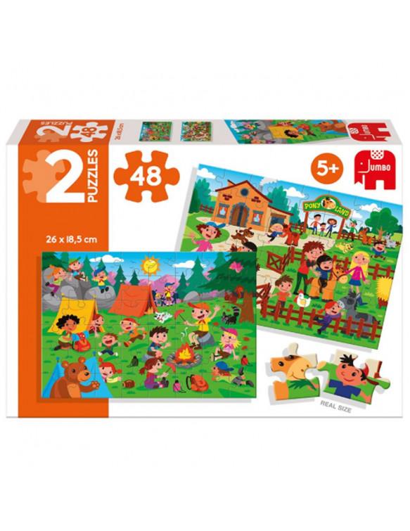 PONY LAND Puzzle 2x48pz 8410446699843 Menos de 50 piezas
