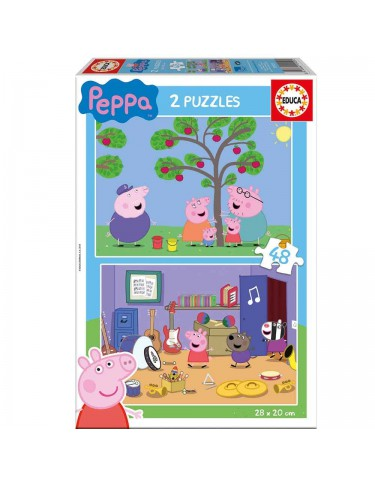 Peppa Pig Puzzle 2x48pz