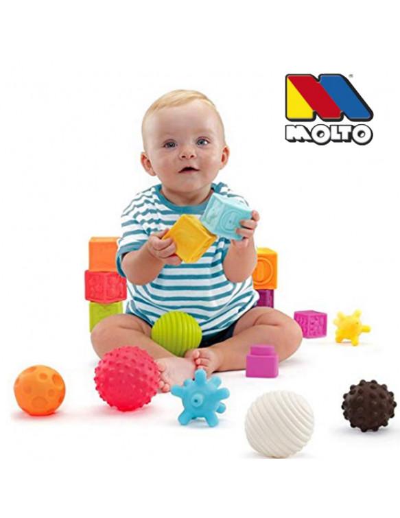BOLSA BOLAS SENSORIALES 6 PIEZAS 8410963195200 Primera infancia