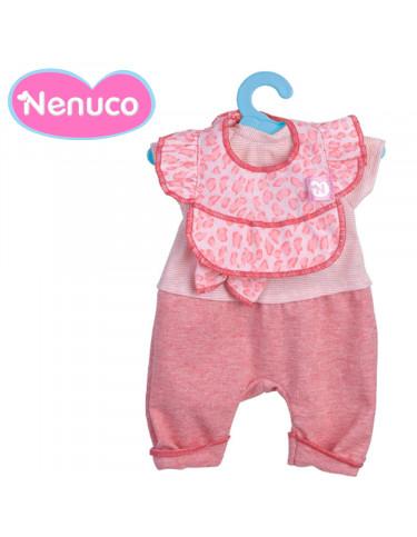 Nenuco Vestido Pantalón Rosa con Jersey a Rallas 35cm