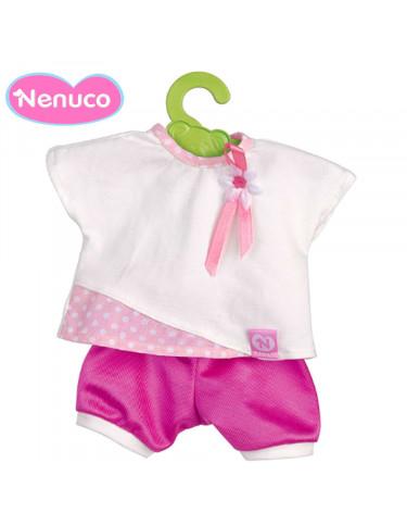 Nenuco Vestido Pantalón Rosa con Camisa Blanca 35cm