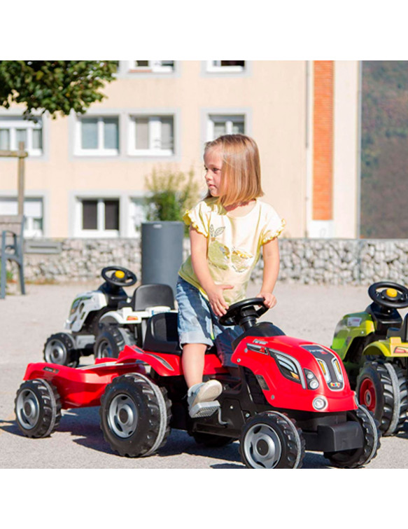 TRACTOR FARMER XL ROJO CON REMOLQUE 3032167101082 Aire libre