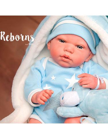 CARLOS REBORN ARIAS CON MANTA Y PELUCHE 8427614980368 Reborn