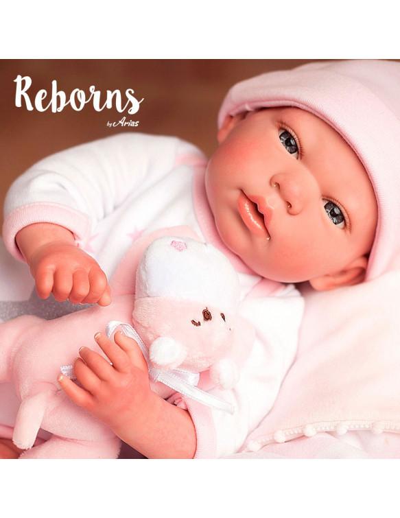 GALA REBORN ARIAS CON MANTA Y PELUCHE 8427614980351 Reborn