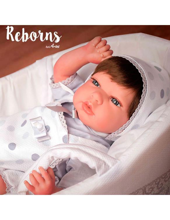 Candy Reborn Arias con Capazo Tonos Grises 8427614980344