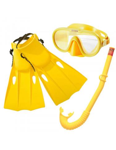 Máscara Buceo, tubo Respiradero y Aletas +8 años 6941057413136