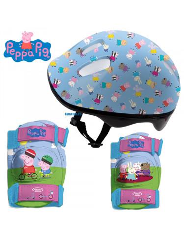Peppa Pig Protecciones, Casco y Mochila 3517130001199
