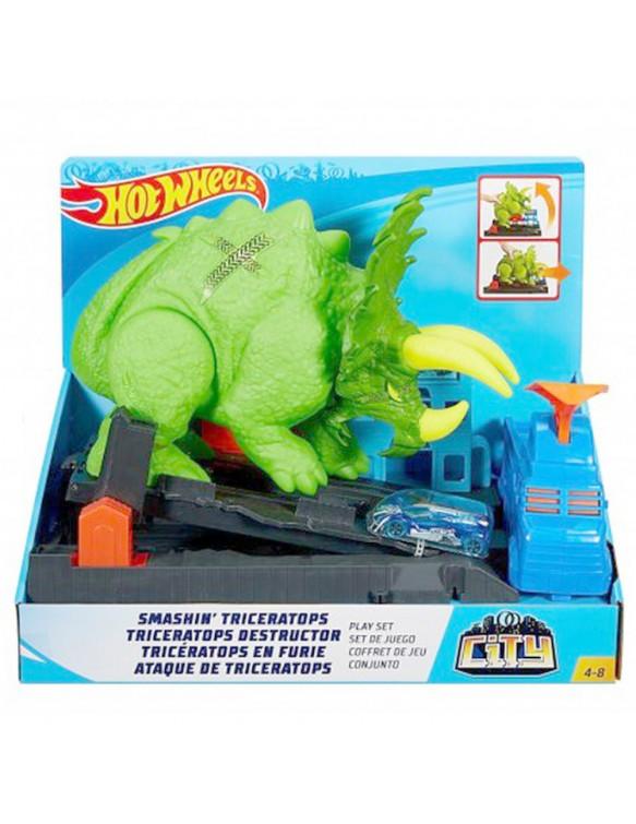 Hot Wheels City Ataque Triceraptor 887961713954 Pistas y