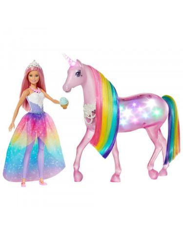 Barbie y Unicornio Luces Con Muñeca 887961699029 Barbie