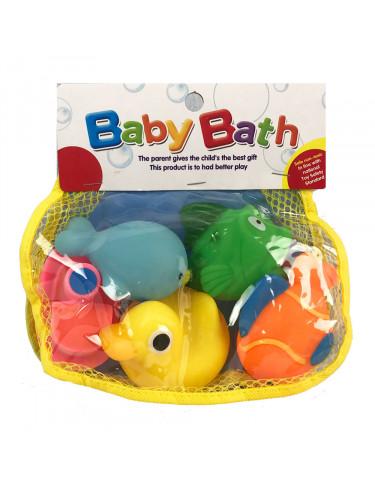 Bolsa 5 Animalitos Baño 5022849745633 Juguetes de baño