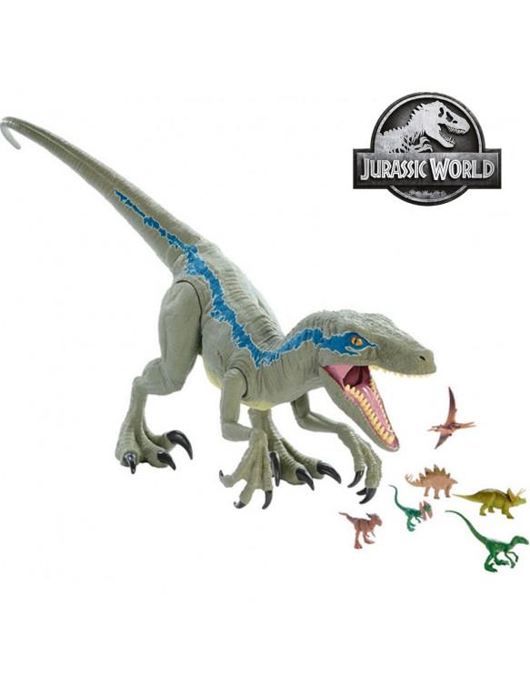 Jurrassic World Super Colossal Velociraptor Blue 887961734737