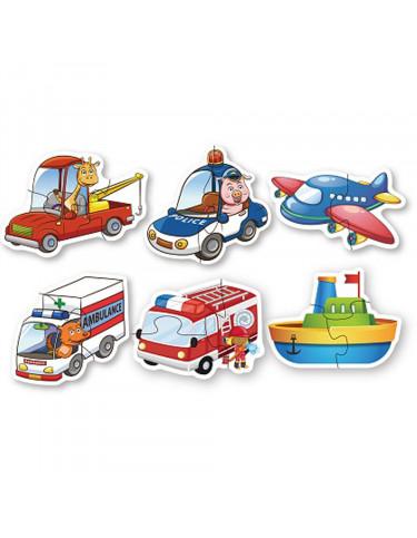 Puzzle Vehículo Infantil 6931000880603 Menos de 25 piezas