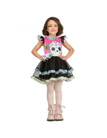 Disfraz Calaverita Colores 5-6 años