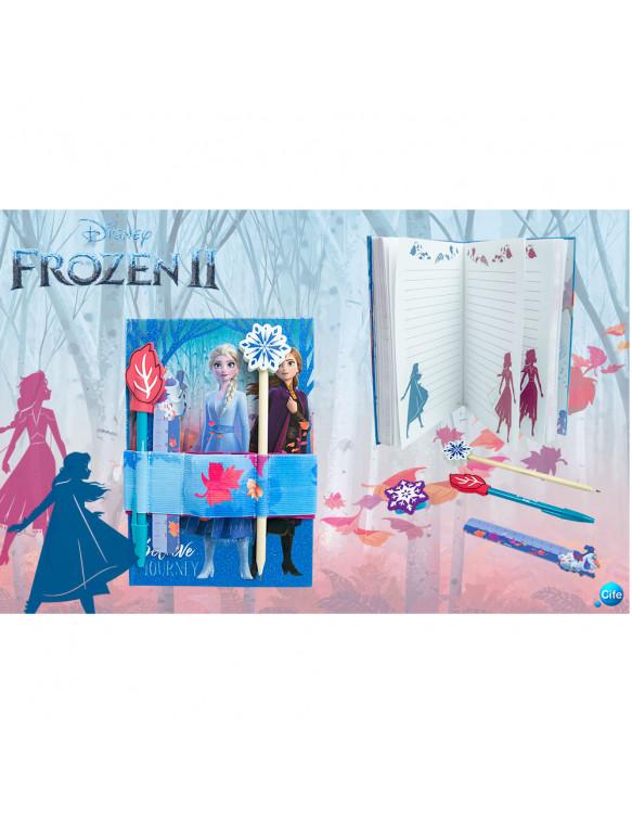 Frozen 2 Diario Con Accesorios