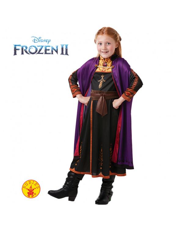 Anna Frozen 2 Disfraz T.S 3 a 4 años.