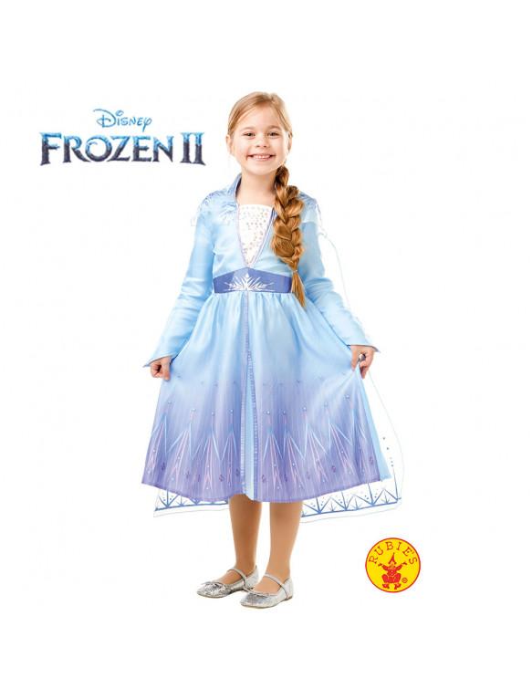 Elsa Frozen 2 Disfraz T.S 3 a 4 años.