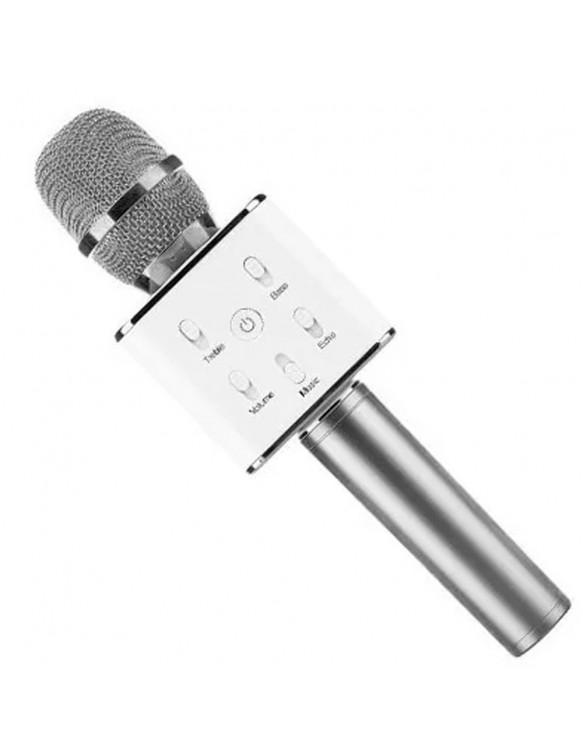 Micro Karaoke Bluetooth Plata Micrófonos