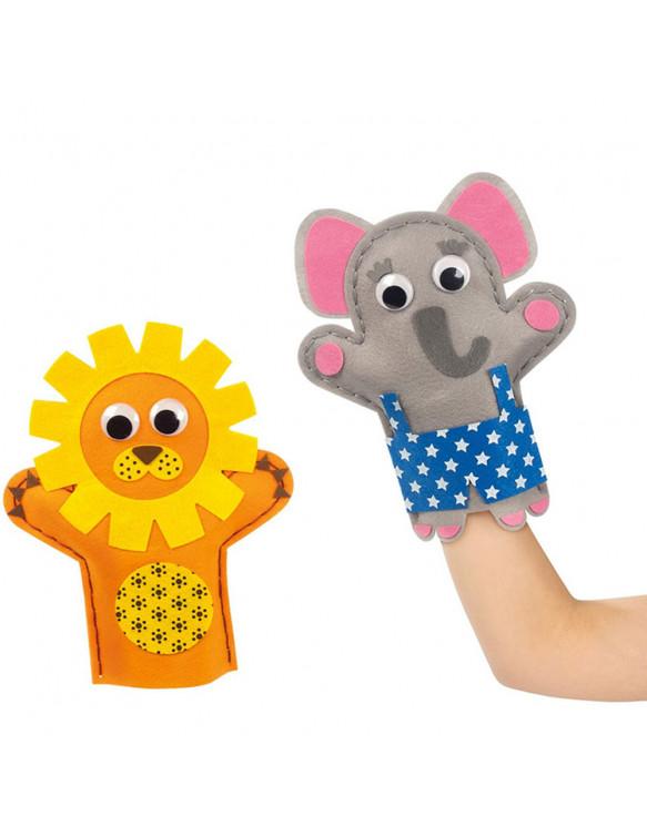 Marionetas Mano Elefante/León 8410446520291