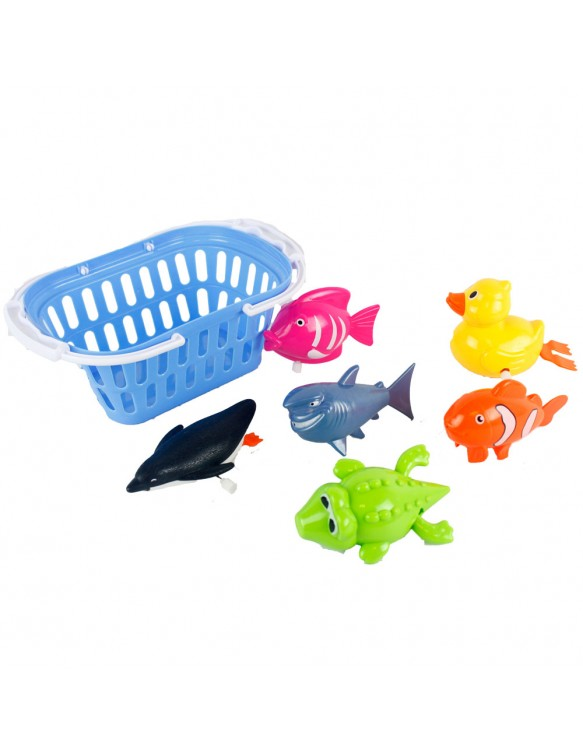 Cesta Con 7 Animalitos Baño