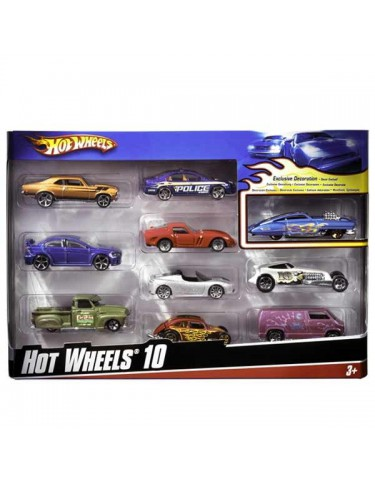 Hot Wheels 10 coches 74299548864
